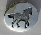horse and patina in silver