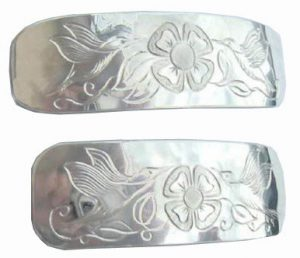Others Barrettes silver gold custom hummingbirds whales feathers raven medicine wheel dragons