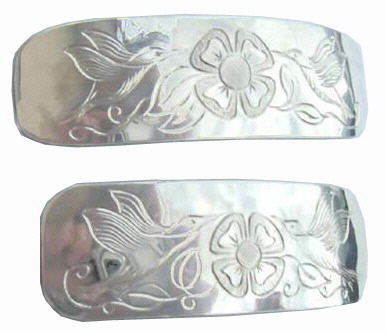 custom native jewelry Barrettes silver gold custom hummingbirds whales feathers raven medicine wheel dragons
