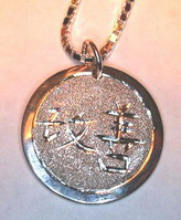 Kaizen-Continuous Improvement Pendant in silver gold platinum Katakana Kanji
