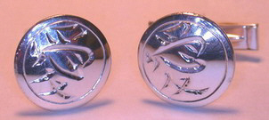 Kanji Chinese Cuff Links Non-Native - NNKc2c - Love - 5/8""