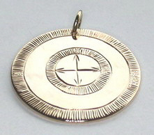 Medicine Wheel Pendants -MdP5 - simple medicine wheel with border