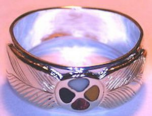 Rings - Medicine Wheel Rings in gold silver and platinum