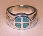 medicine wheel turquoise silver ring