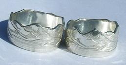 Engraved Mountain Rings - MnREng7 engraved mountains edge