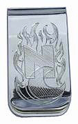 Money Clips - MC14 -'NC' Initials and Flames