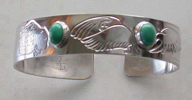 Gems-Bracelets -BSt4 - Snowy Owls , Eagles and Turquoise