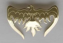 Gem Stoned Pendants - PenSt8 - Phoenix with Diamond eye