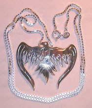 Bird-Feather Pendants - PenSt8 Pheonix pendant in silver