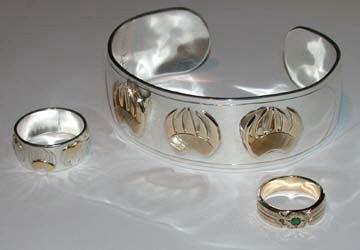 Appliquéd Bracelets silver gold cuff medical