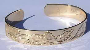 Gold Bracelets - BG9 - Polar Bear, Wolf Turtle ,Owl and Horse Bracelet