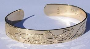 Gold Bracelets - BG9 - Polar Bear, Wolf Turtle ,Owl and Horse Bracelet
