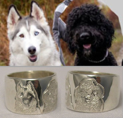 NNcr9 - Shepherd and Labradoddle dog ring