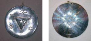 Sanskrit Om Symbol in Silver