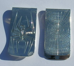 Money Clips - MC3a -Silver Spider
