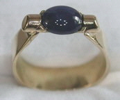 Non-Native Rings Stones - NNrcSt3 - Star Sapphire set in bar