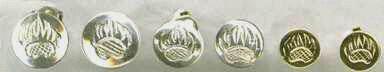 """Stud Earrings - ERss4- Stud Earrings from 1/2"""" to 5/16"""" diameter"""