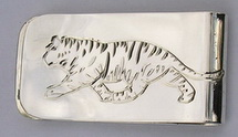 Money Clips - MC9 - Tiger money clip in silver