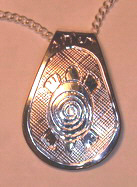Silver Pendants - Pen26 - Teardrop Turtle