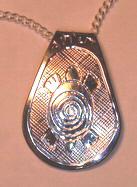 Silver Pendants - Pen26 - Teardrop Turtle