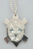 Silver Pendants - Pen24 - Cut-out Turtle