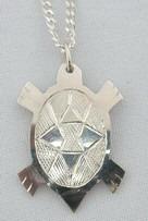 Silver Pendants - Pen24 - Cut-out Turtle