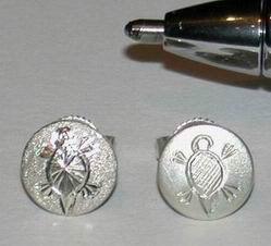"""Stud Earrings - ERss3 - 5/16"""" Small Turtle Studs"""