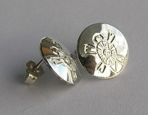 "Stud Earrings - ERss3 - 5/16"" Small Turtle Studs"