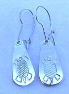 Tear Drop Earrings - ERn24b - silver tear drop earrings Turtle