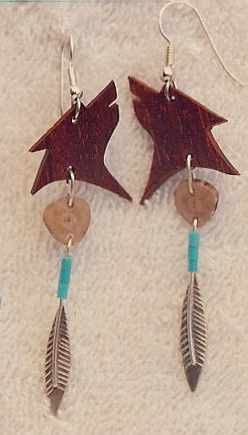 Our 1st Work - Wolf Deer Horn Feather Turquoise