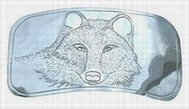 design - wolf belt buckle