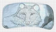 design - wolf belt buckle