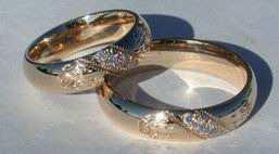 Channel Gem Stone Rings - ChSt18a and b - Wolfpaws on 5mm thin band by 2mm thick