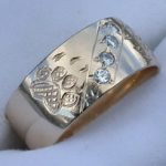 Wedding Rings - ChSt20a,b and c - Wolpaws and .03ct diamonds