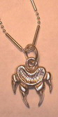 Cast Pendants - PenC10 - Wolf [aw in silver cast and chain