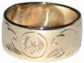 eagle ring in gold