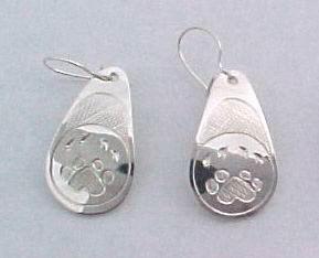 Tear Drop Earrings - ERn4 - Teardrop Wolfpaw
