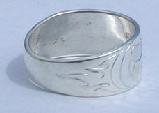 paws face silver rings - Rsp1 - Bearclaws and Flames