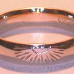 4-Direction Gold Rings - 4drg7 - 4 Directions thin Band with Sun, Medicine Wheel, Bearclaw and Eagle Head