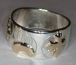 Face - Paw Appliqued Rings - Rap5 - Bearclaws and Maple leaf