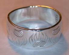 paws face silver rings - Rsp3 - The classic Bearclaw ring