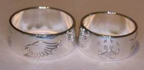 4-Direction Silver Rings - 4DS11a - Eagle, Wolfpaw, Buffalo and Bearclaw