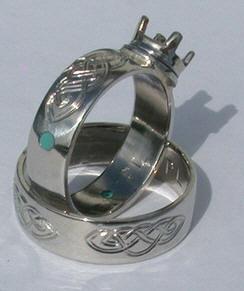 Platinum Rings - Platinum 2-Tone Rings