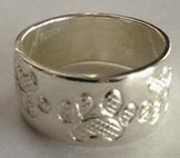 paws face silver rings - Rsp5 - Dog tracks
