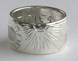"4DS30a - 1/2"" wide- sun burst, spiral of life ,dolphin and turtle"