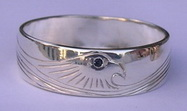 Silver bird feather rings - RbfS1 - Simplified Eagle