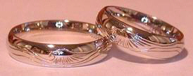 Gold Bird Feathers Rings - Rbfg9 - Flying Eagle on 5mm thin band