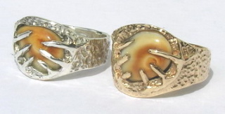 RCas7b - Elk teeth and horns in Gold and Silver