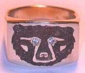 Other Cast Rings - RCas2 - grizzly Face with Diamond eyes