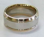 Manufactured Rings 2 Tone Ribbed - ready for Custom engraving
